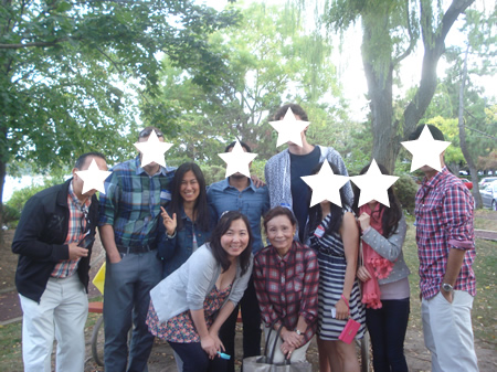 BBQ party in New Jersey with Japanese Women