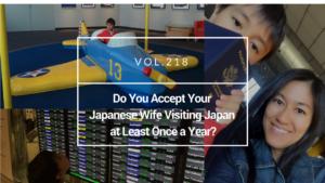 Japanese wife visiting Japan