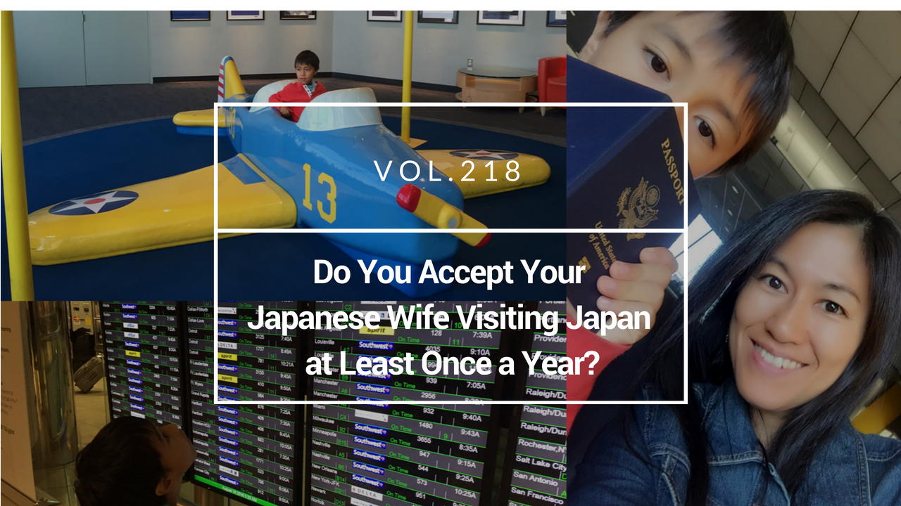 Japanese wife visiting Japan