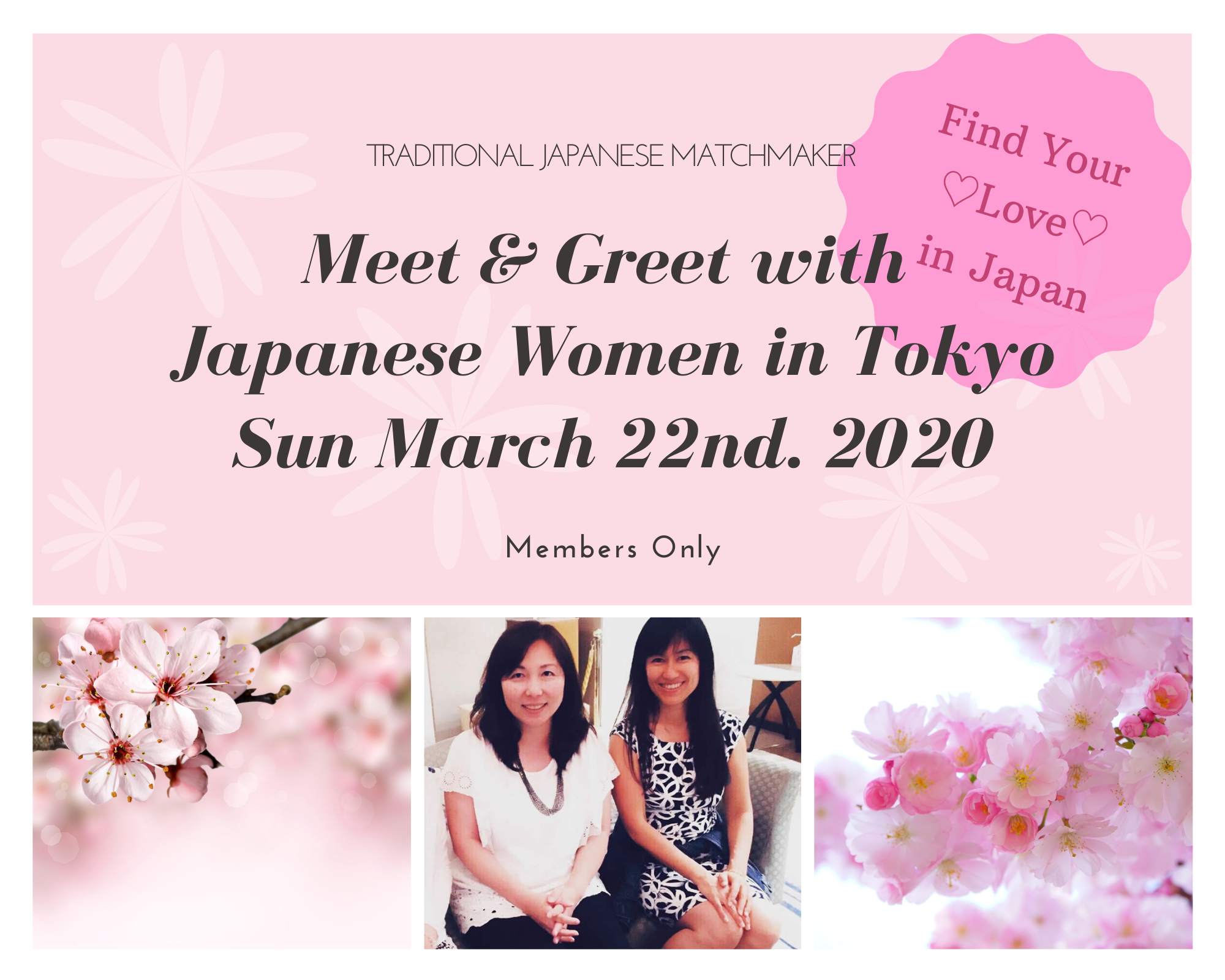 Singles Event with Japanese women in TOKYO