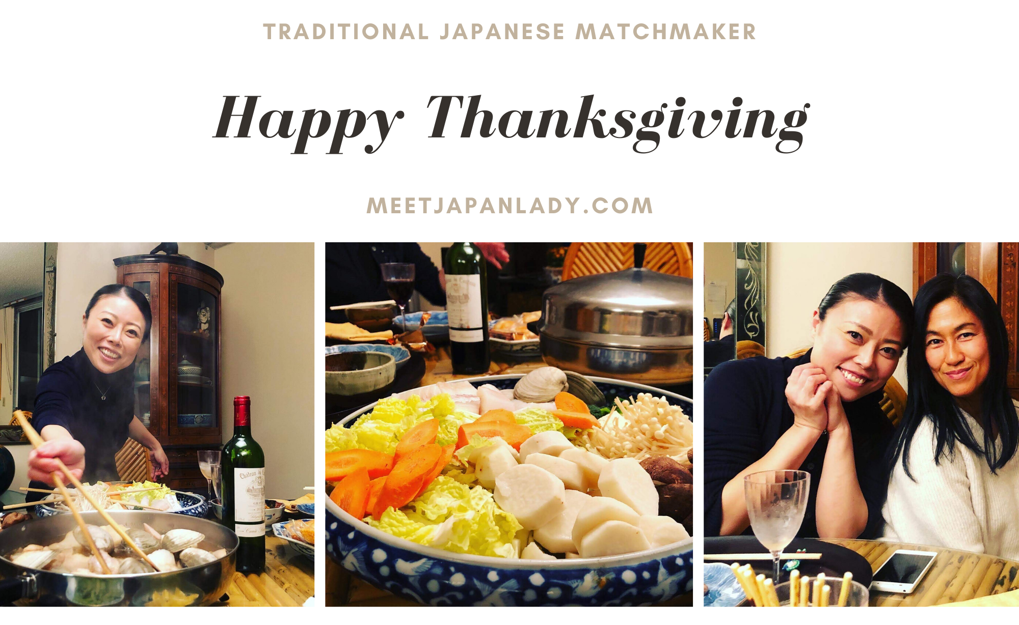 Japanese woman & Thanksgiving