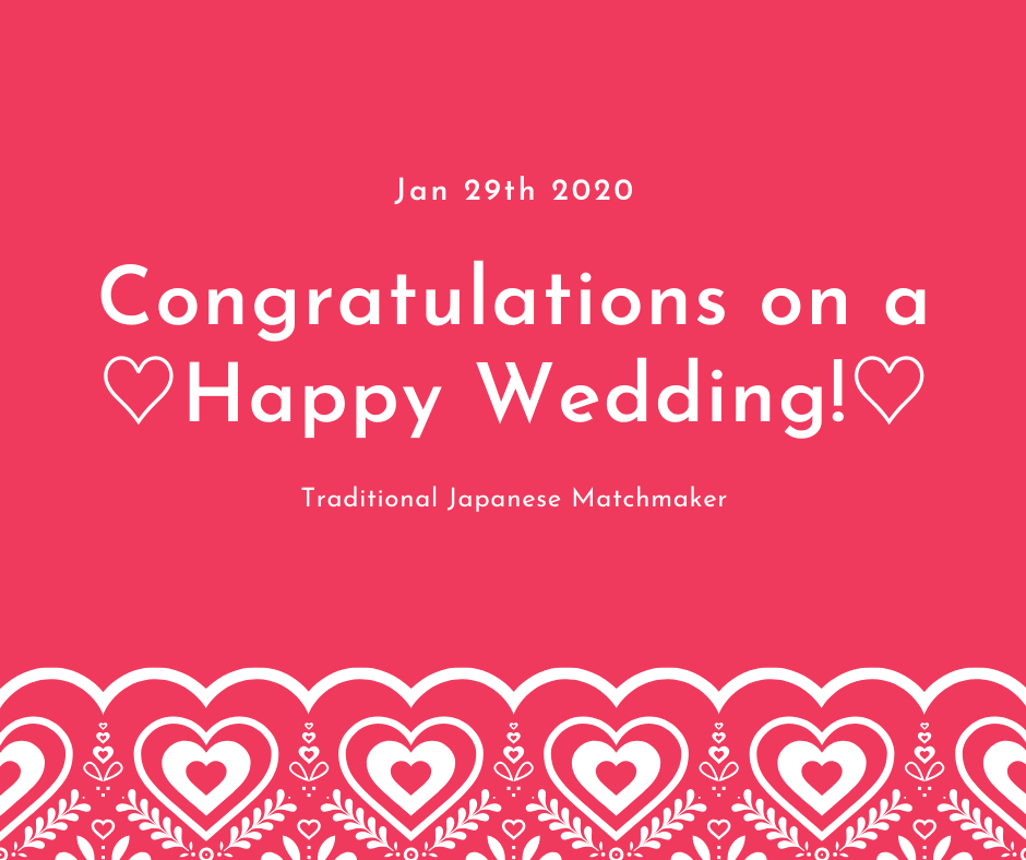 Happy Wedding in Japan