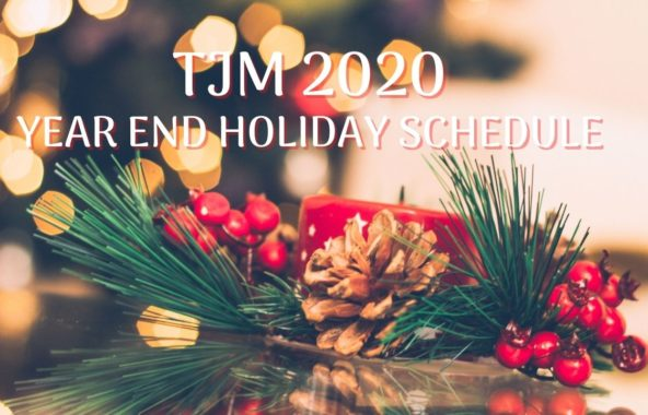 Year End Holiday SCHEDULE